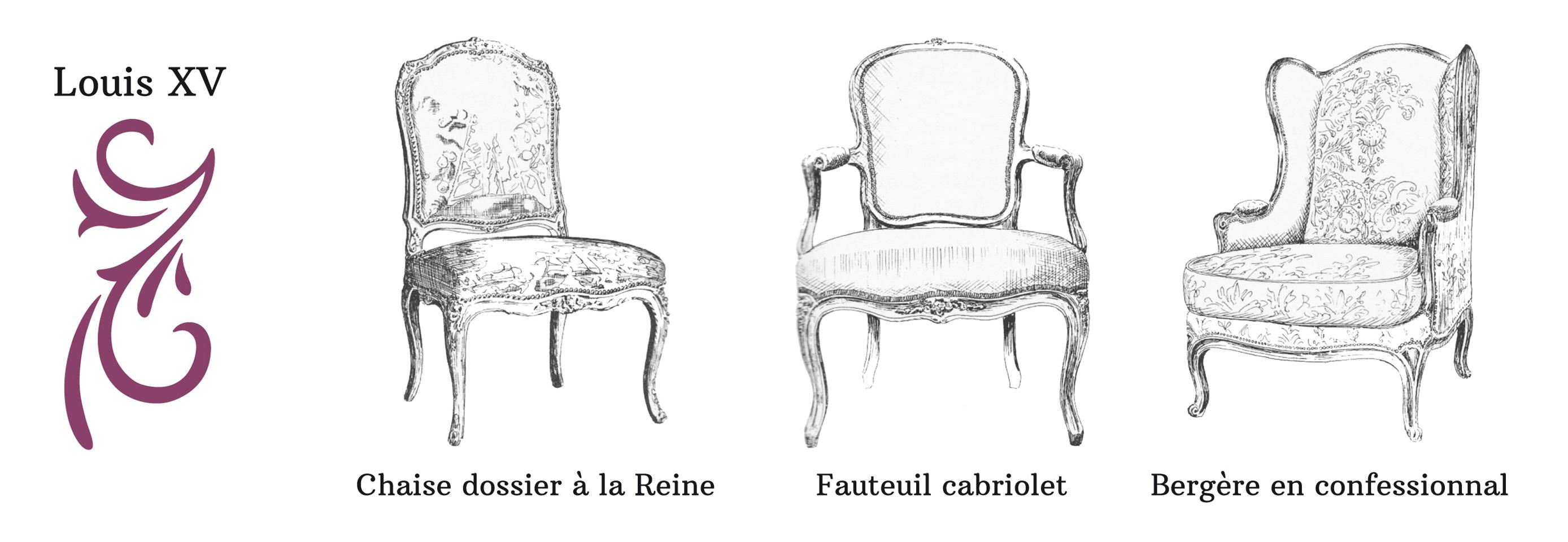 tous types de si ges d 39 poque ou de style et les t tes de lit. Black Bedroom Furniture Sets. Home Design Ideas