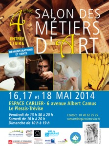 Affiche salon metiers art 2014